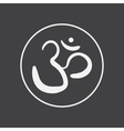 om sign and symbol vector image