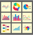 diagram chart graph elements business vector image