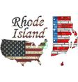 USA state of Rhode Island on a brick wall vector image