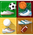 Football basketball volleyball soccer field vector image