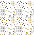 seamless ethnic pattern tribal hand drawn vector image
