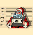 2018 new year photo funny santa claus under vector image vector image