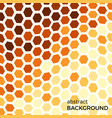 abstract background with orange hexagons elements vector image