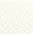 abstract geometric golden seamless pattern vector image vector image