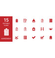 agreement icons vector image vector image
