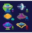 Aliens characters set vector image vector image