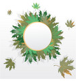 autumn leaves round label vector image
