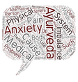 Ayurveda As Alternative Anxiety Treatment text vector image vector image