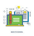 back to school flat icons design vector image vector image