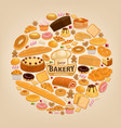 bakery shop cakesand sweet pastry desserts vector image vector image