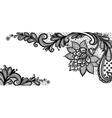 black lace design vector image