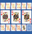 blackjack diamonds suite french stylexa vector image vector image