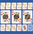 blackjack diamonds suite french stylexa vector image