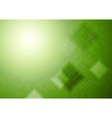 Bright green technical squares background vector image vector image