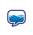 bubble chat bubble speech with water inside vector image vector image