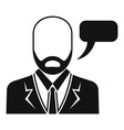 businessman speech icon simple style vector image