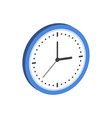 clock symbol flat isometric icon or logo 3d style vector image vector image