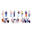 company hr recruiting professionals meet recruit vector image vector image