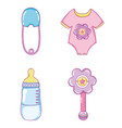 cute baby collection cartoons vector image vector image