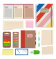 diary blank papers notepad and other organizer vector image