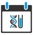 DNA Analysis Calendar Day Toolbar Icon vector image vector image