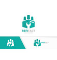 factory logo combination industry and vector image vector image