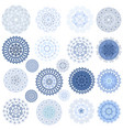 fashion collection of graceful mandalas for your vector image