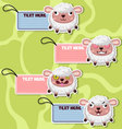 Four cute cartoon Sheeps stickers vector image vector image