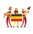 german flag germany people day vector image vector image
