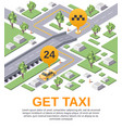 get taxi application advertising template vector image vector image