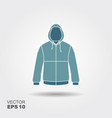 hooded jacket flat icon with shadow sportswear vector image vector image