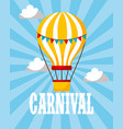 hot air balloon retro carnival fun fair vector image vector image