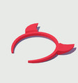 isometric hoop with devil horns vector image vector image