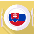 kitchen of Slovakia vector image vector image