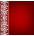 lace border with snowflakes vector image vector image
