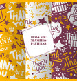 lettering thank you set seamless patterns vector image vector image