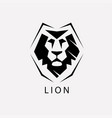 lion face stylized symbol logo or label template vector image vector image