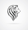 Lion head logo design mock up template set vector image