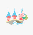 lotte world - famous park in seoul south korea vector image