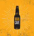 man cave rules with beer bottle creative poster vector image vector image