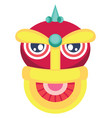 monster head for chinese new year decoration on vector image