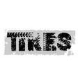 offroad lettering tires vector image vector image