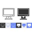 Pc monitor simple black line icon