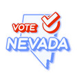 presidential vote in nevada usa 2020 state map vector image vector image