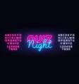 quiz night announcement poster design vector image