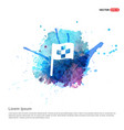 racing flag icon - watercolor background vector image