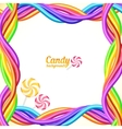 Rainbow colors candy ropes background vector image vector image