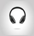 realistic studio headphones eps10 vector image vector image