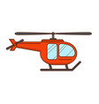red helicopter isolated vector image vector image