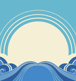 Sea waves and sunAbstract nature image vector image vector image